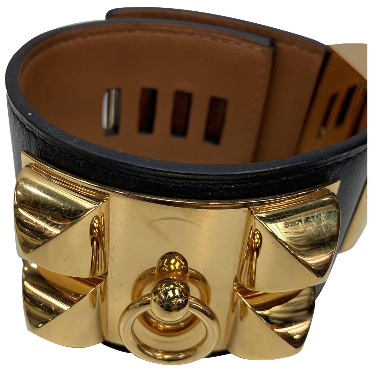 Hermès Collier de chien  Black Leather bracelet for Women \N