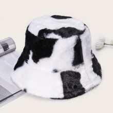 Two Tone Plush Bucket Hat