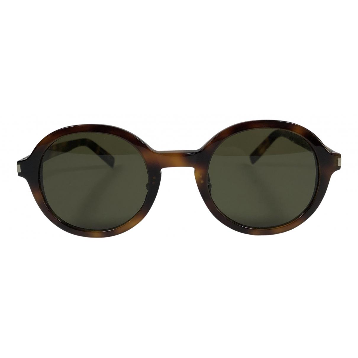 Saint Laurent \N Sonnenbrillen in  Braun Kunststoff