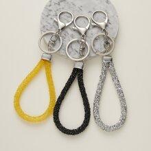 3 piezas llavero con cuerda