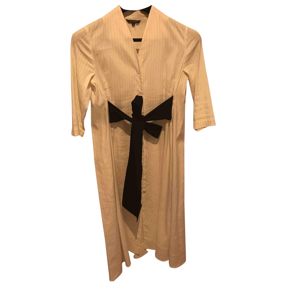 Tara Jarmon \N White Linen dress for Women 38 FR