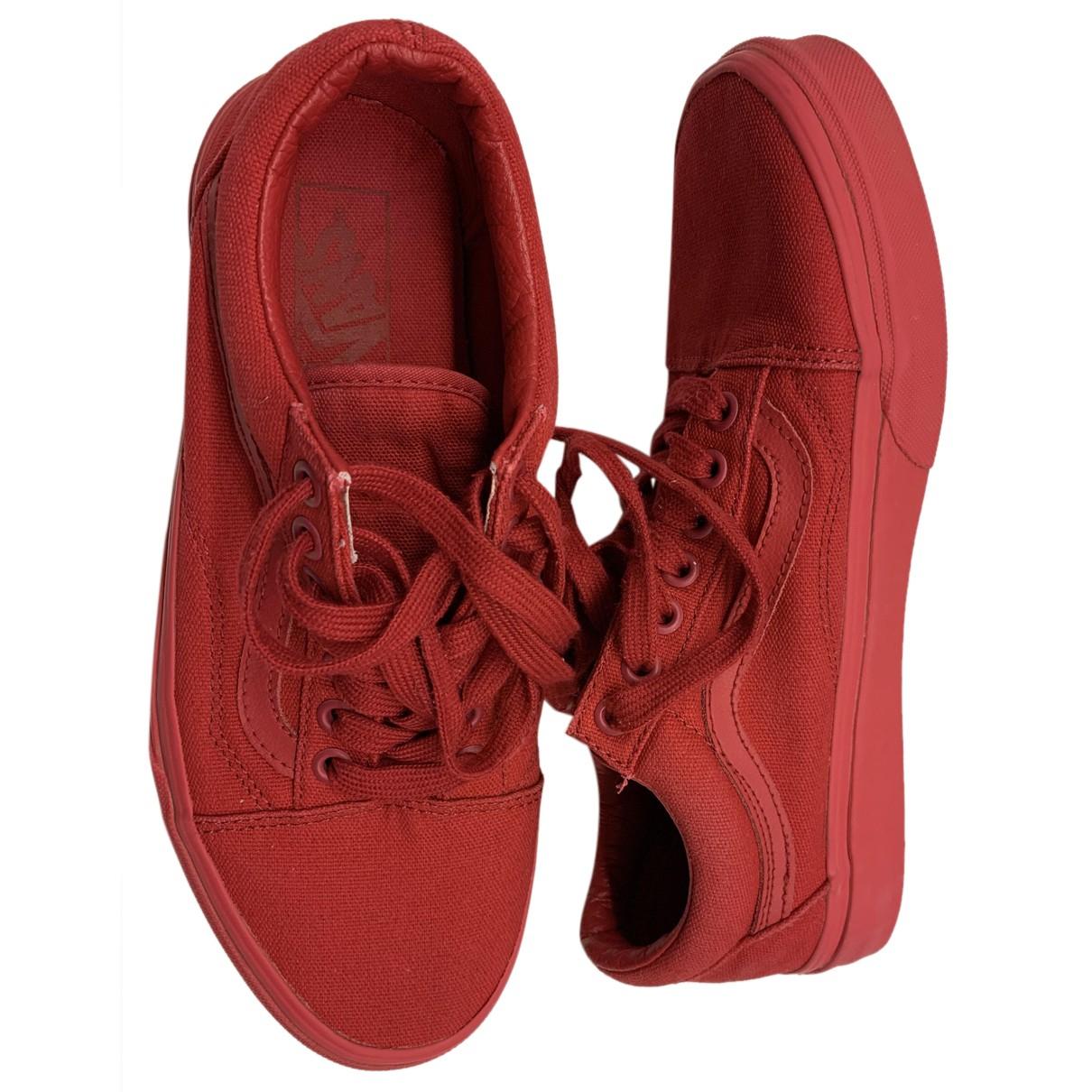 Vans \N Sneakers in  Rot Leinen