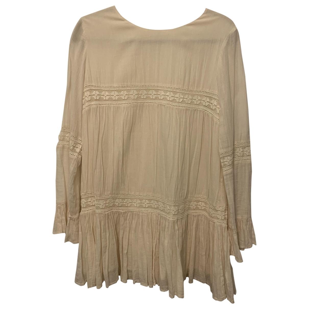 Tularosa - Robe   pour femme en coton - blanc