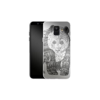 Samsung Galaxy A6 Silikon Handyhuelle - Panda von BIOWORKZ