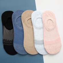 5 pares calcetines con patron