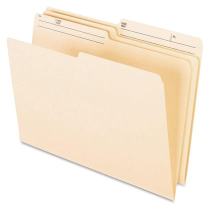 Pendaflex@ Reversible File Folders - Legal. 9-1/2-pt. Manila. 10% post-consumer fibre.