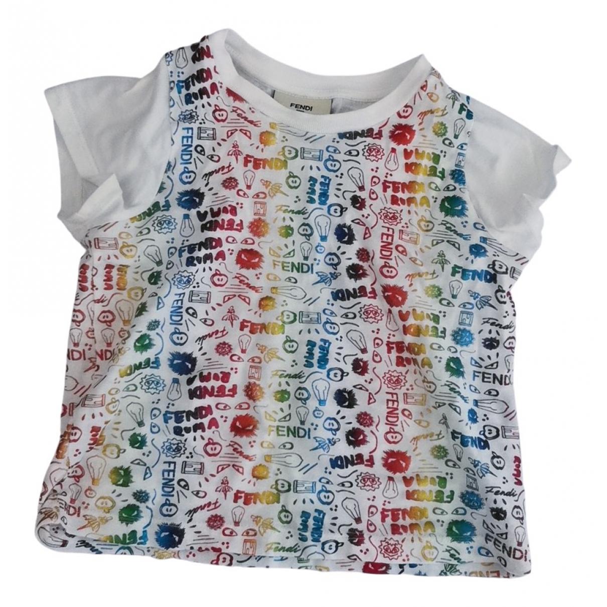 Fendi - Top   pour enfant en coton - multicolore