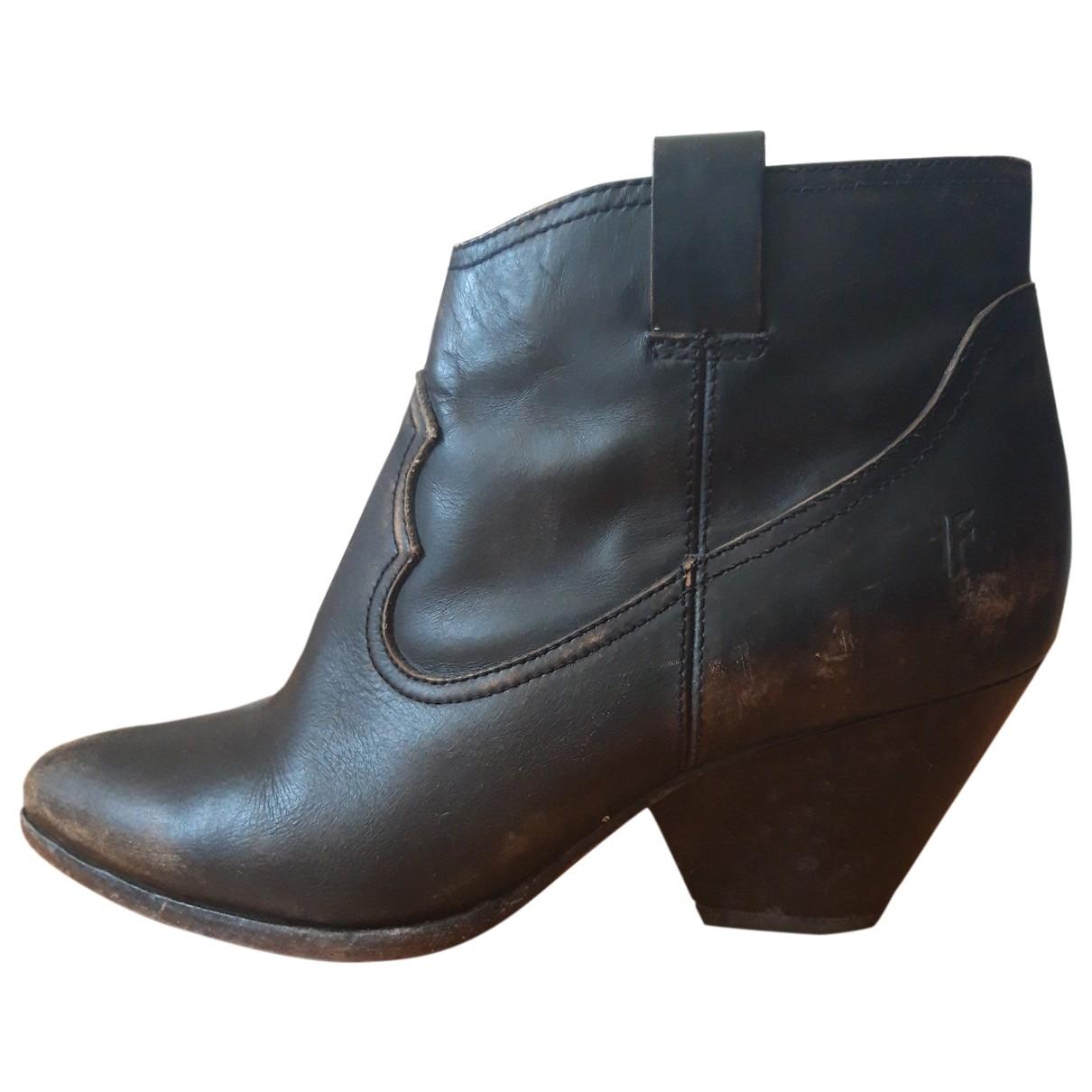 Frye - Bottes   pour femme en cuir - noir