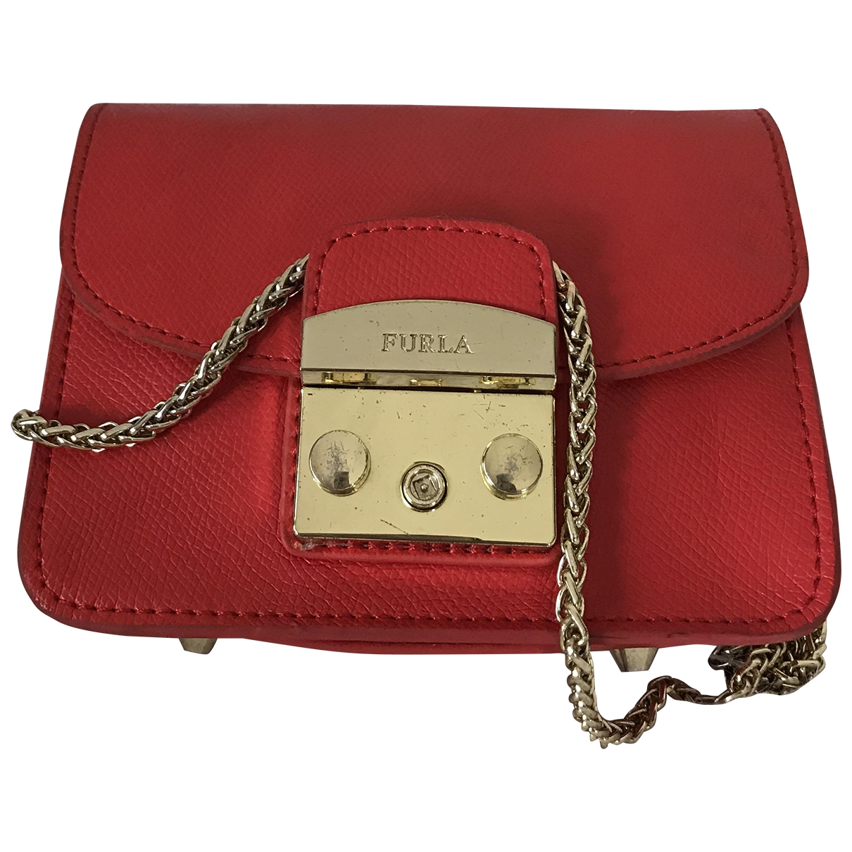 Furla Metropolis Red Leather handbag for Women \N