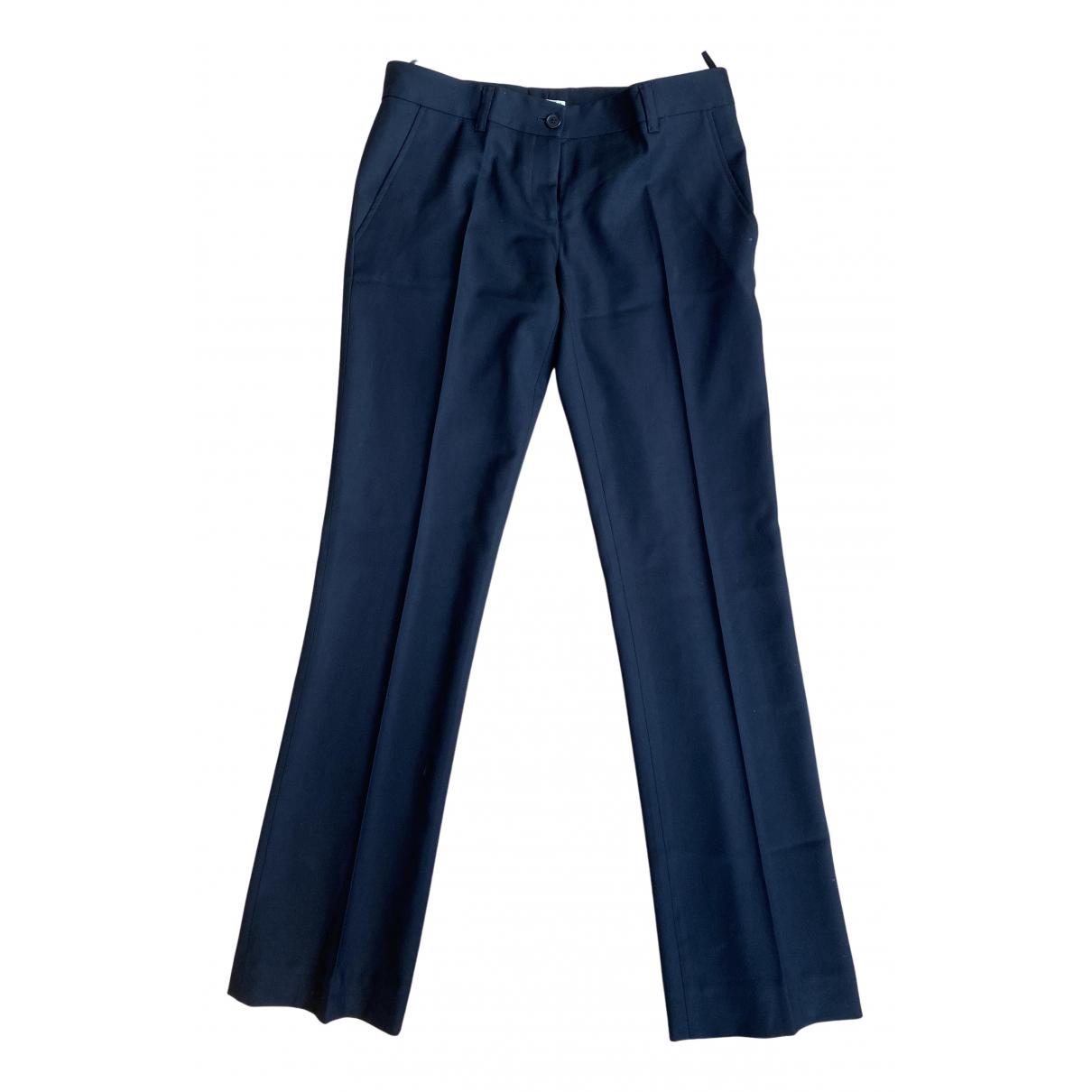 Pantalon recto de Lana Miu Miu