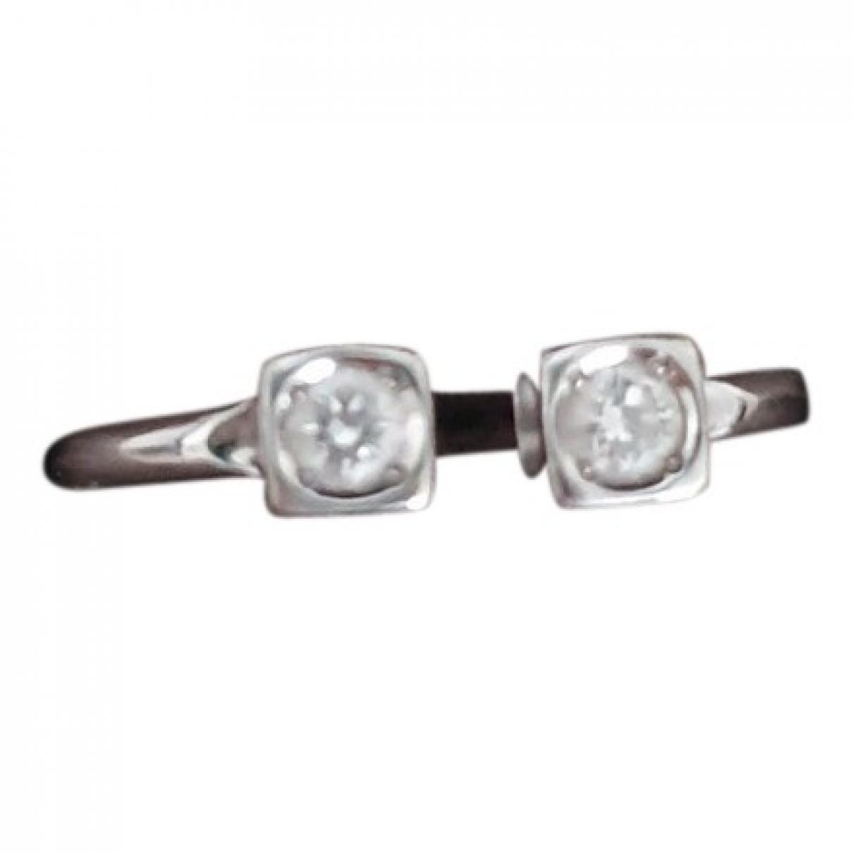 Dinh Van - Bague Le Cube Diamant pour femme en or blanc - gris