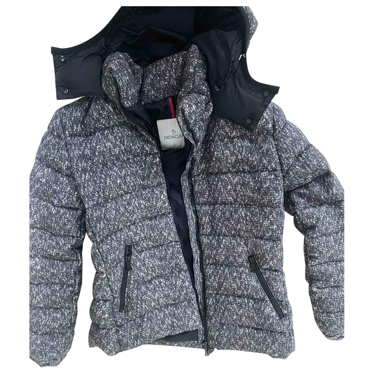 Moncler - Manteau Hood pour femme en tweed - noir