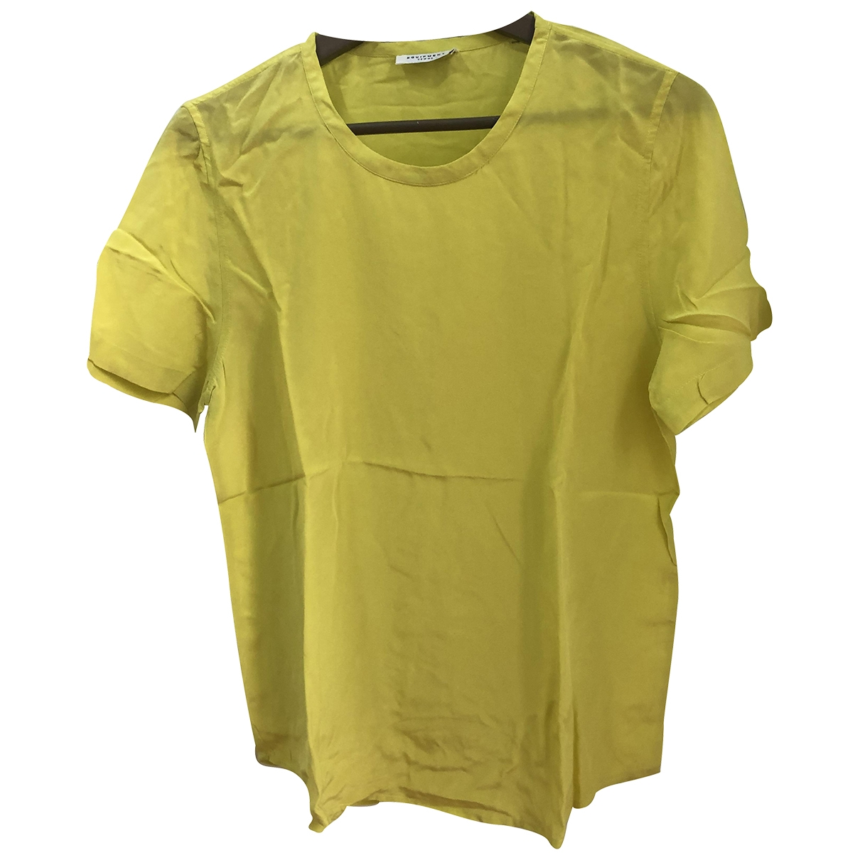 Equipment \N Yellow Silk  top for Women S International