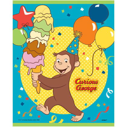 Curious George 8 Loot Bags For Birthday Party