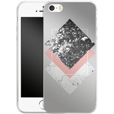 Apple iPhone 5 Silikon Handyhuelle - Geometric Textures 1 von Mareike Bohmer