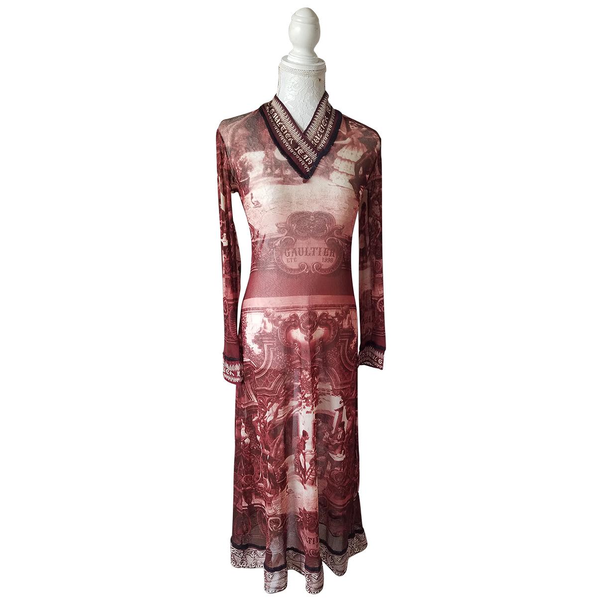 Jean Paul Gaultier \N Kleid in  Bunt Baumwolle