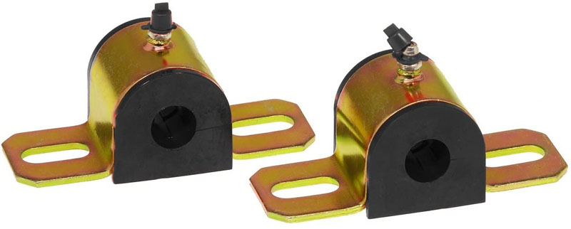 Prothane 19-1158-BL Universal Greasable Sway Bar Bushings - 1in - Type A Bracket - Black