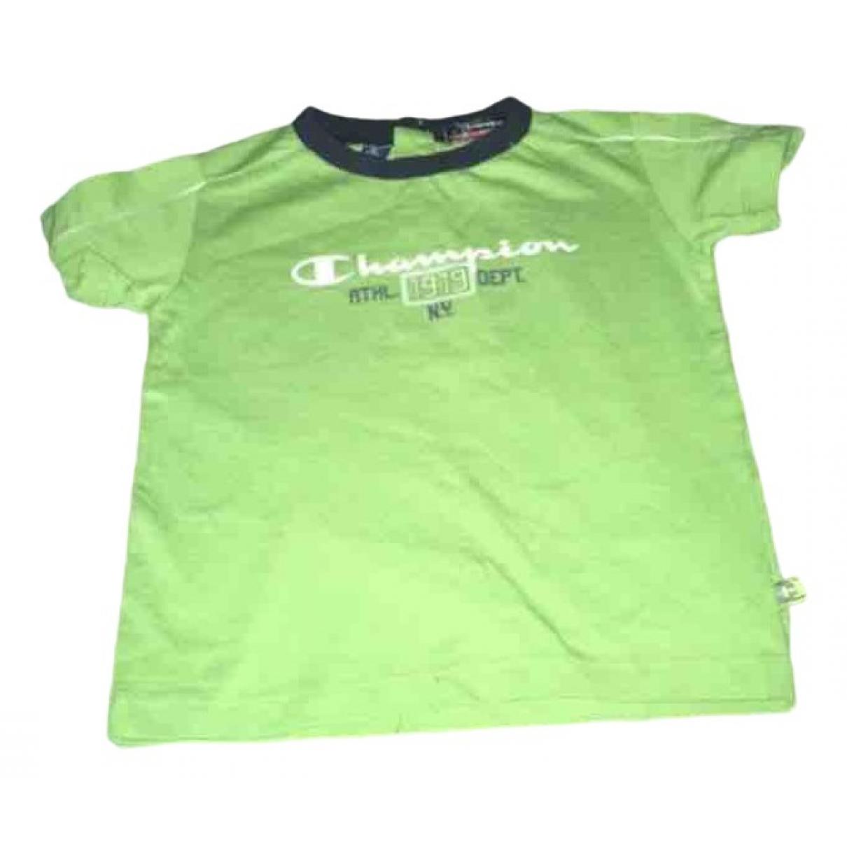 Champion - Pull   pour enfant en coton - vert