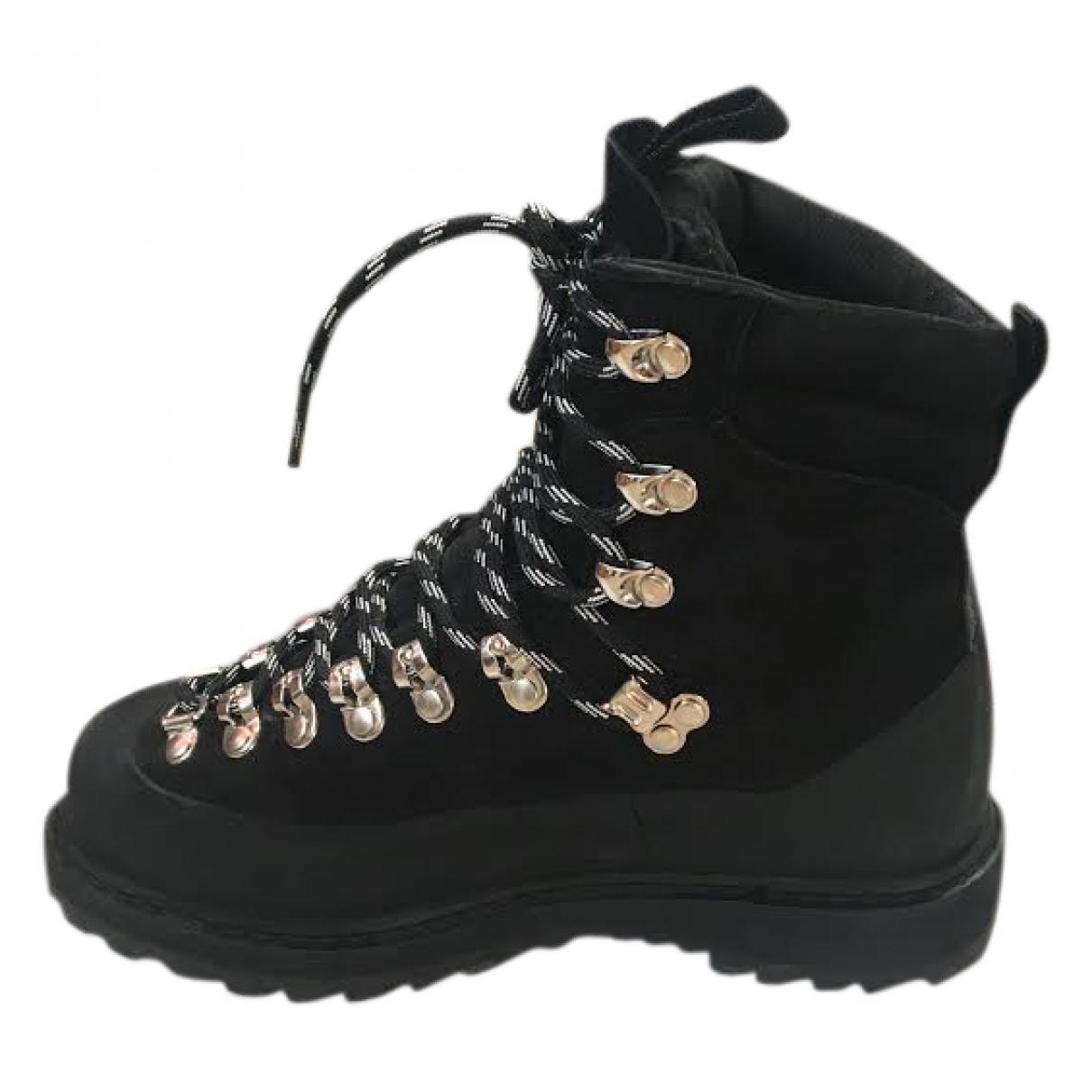 Diemme - Boots   pour femme en cuir - noir