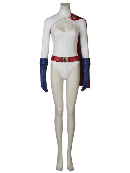 Milanoo Power Girl Kara Zor L Halloween Cosplay Costume DC Comics Superhero Costume