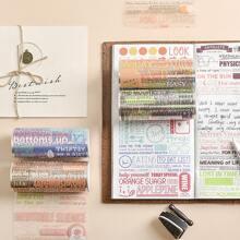 1roll Letter Graphic Random Decorative Tape