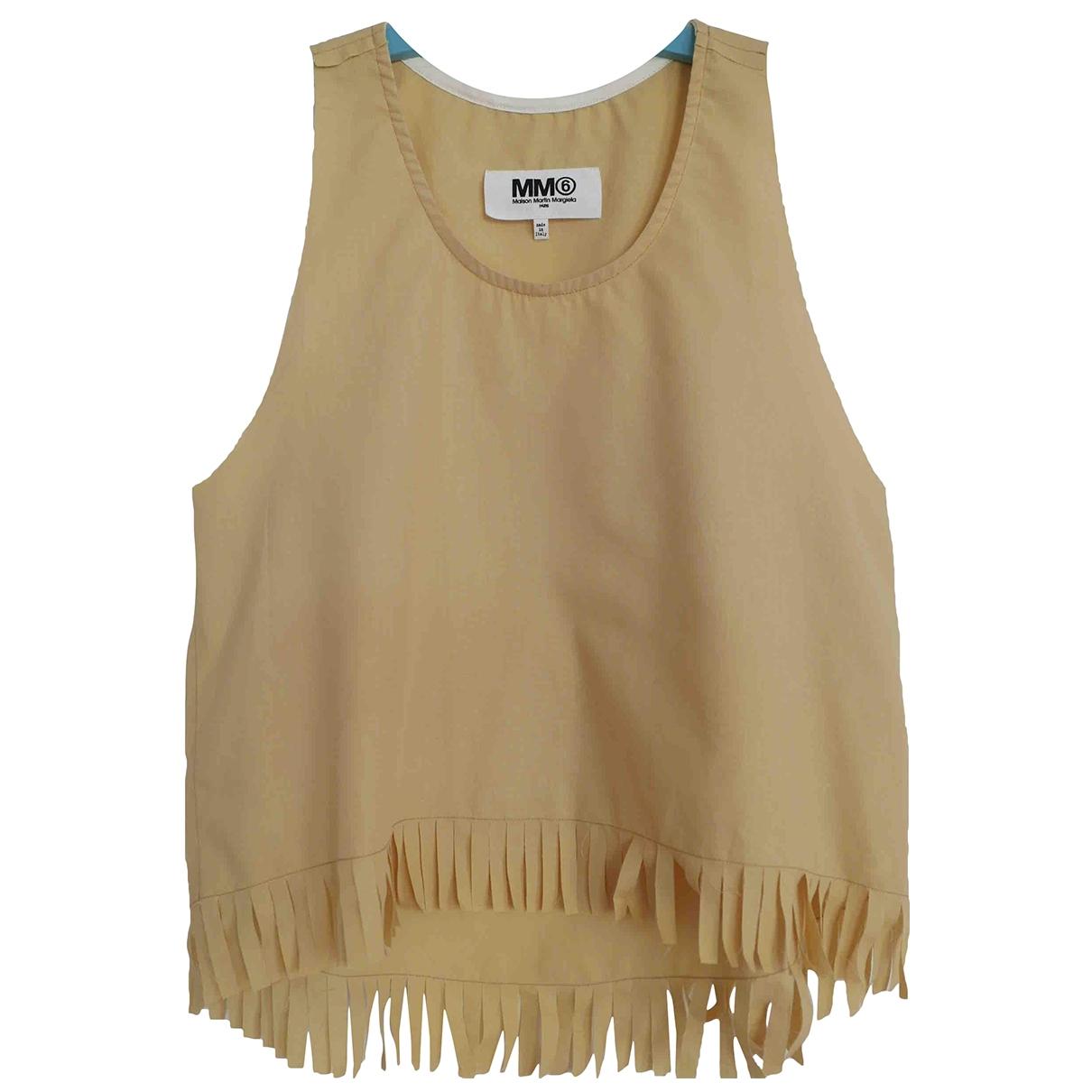 Mm6 - Top   pour femme en coton - jaune