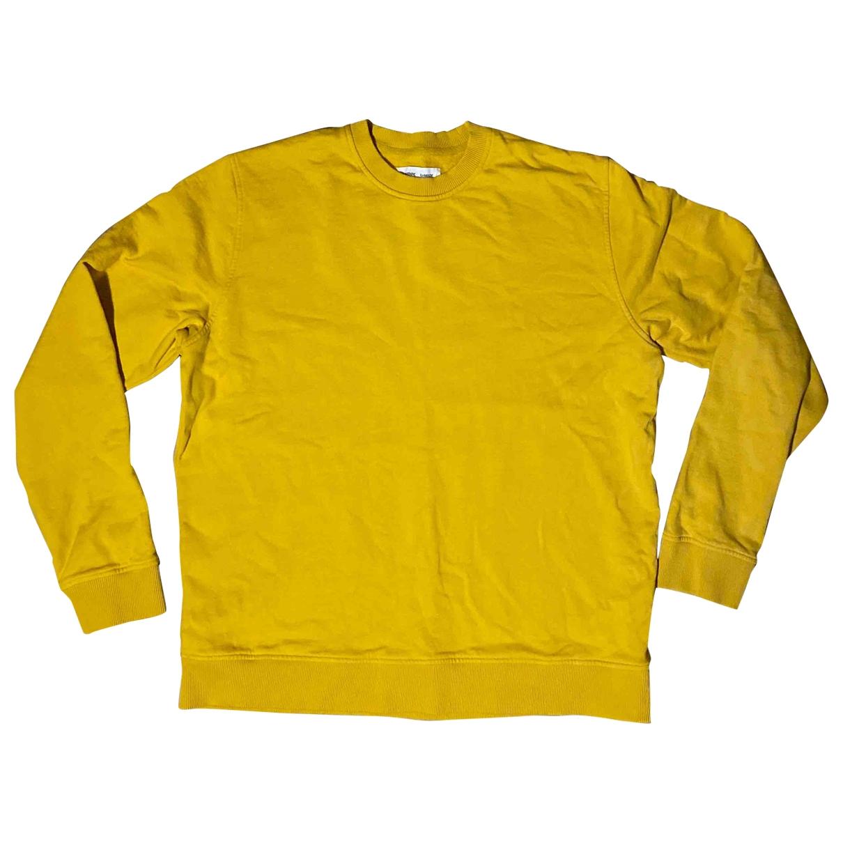 Samsoe & Samsoe \N Yellow Cotton Knitwear & Sweatshirts for Men XL International