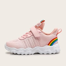 Girls Colorblock Velcro Strap Sneakers