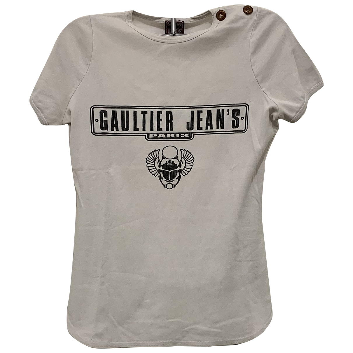 Jean Paul Gaultier \N Ecru Cotton  top for Women 36 FR