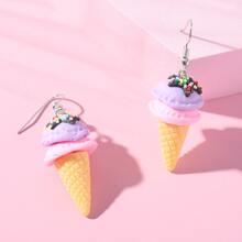 Pendientes de niñas con helado