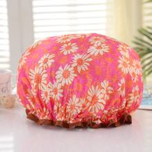 Flower Print Shower Cap
