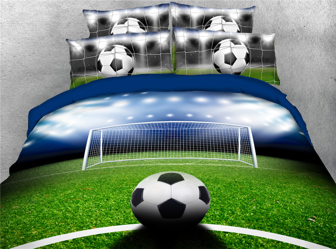 Football Machine Wash Five-Piece Set Comforter Set Nylon Bedding Sets Stain-resistant, Fade-resistant and Wrinkle-resistant