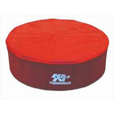 K&N PreCharger Round Straight Filter Wrap (Red) - 22-1422PR