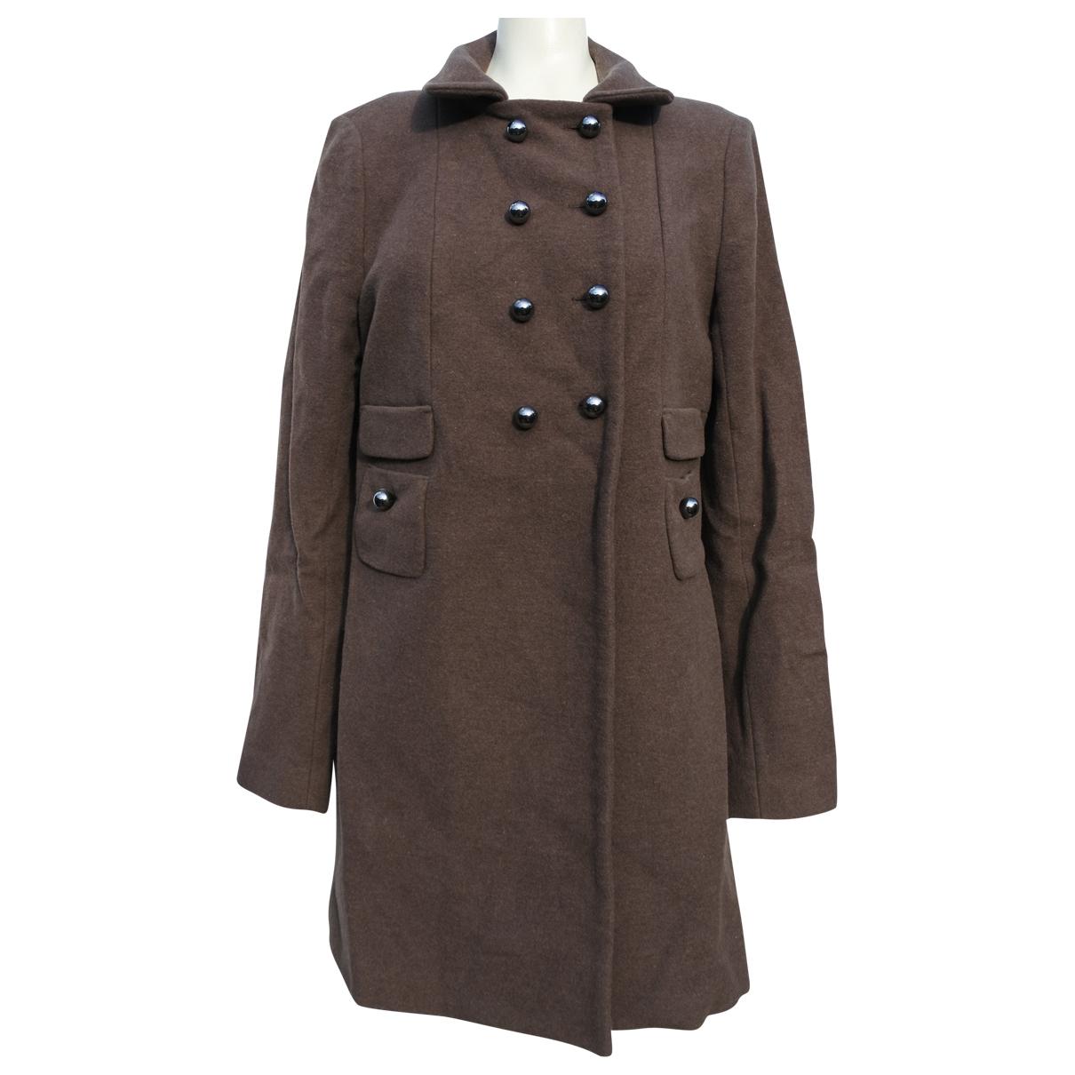 Tara Jarmon - Manteau   pour femme en laine - marron
