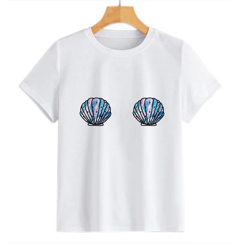 Beddinginn Short Sleeve Round Neck Hand Painted Standard Fall Women's T-Shirt