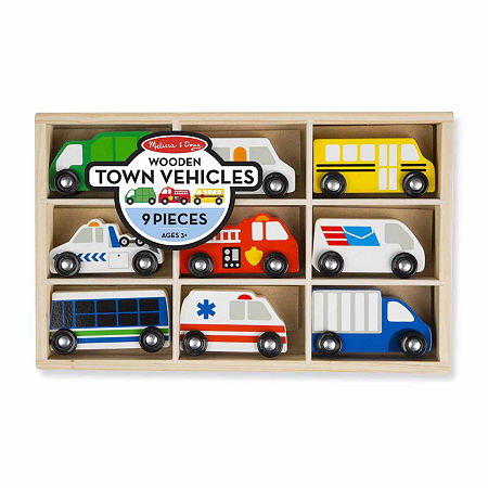Melissa & Doug Wooden Town Vehicles Set, One Size , Multiple Colors