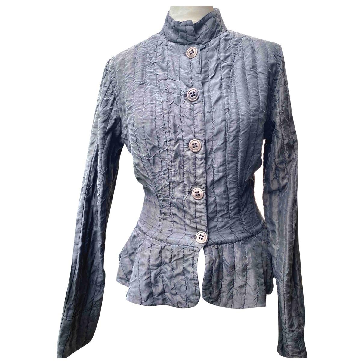 - Veste   pour femme en soie - gris