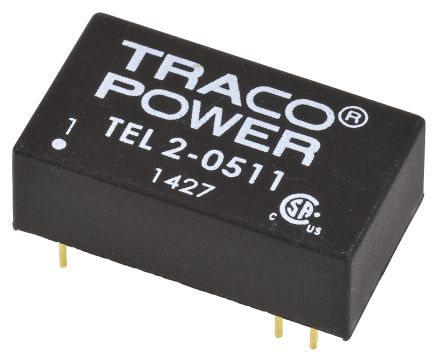 TRACOPOWER TEL 2 2W Isolated DC-DC Converter Through Hole, Voltage in 4.5 → 9 V dc, Voltage out 5V dc