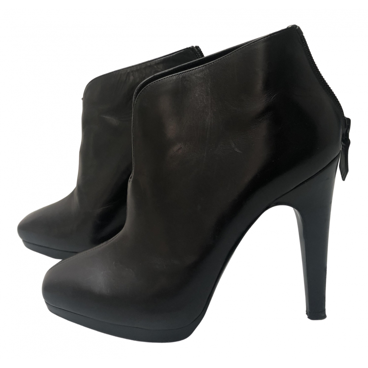 Hermès N Black Leather Ankle boots for Women 36 EU
