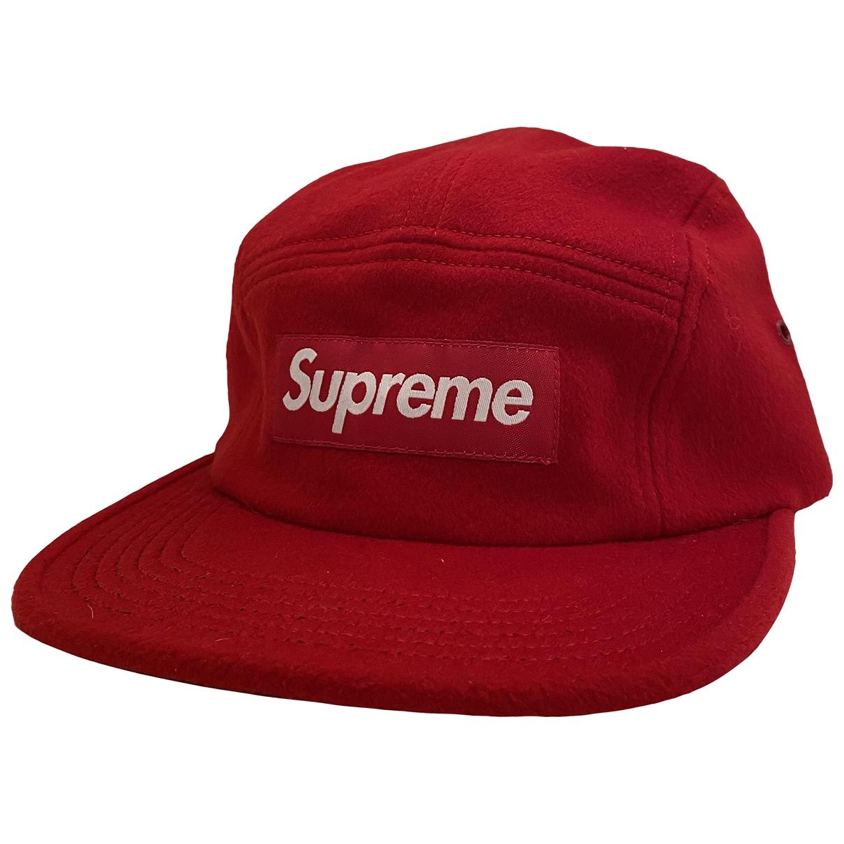 Supreme - Chapeau & Bonnets   pour homme en laine - rouge