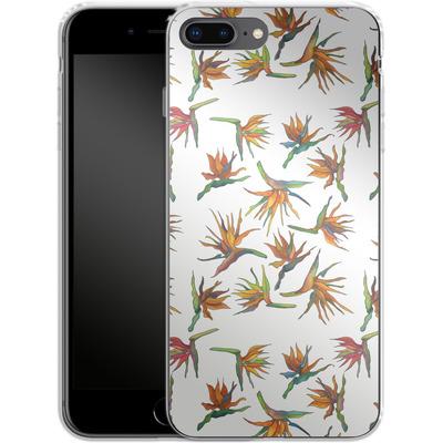 Apple iPhone 8 Plus Silikon Handyhuelle - Paradise Flower Pattern von Kaitlyn Parker