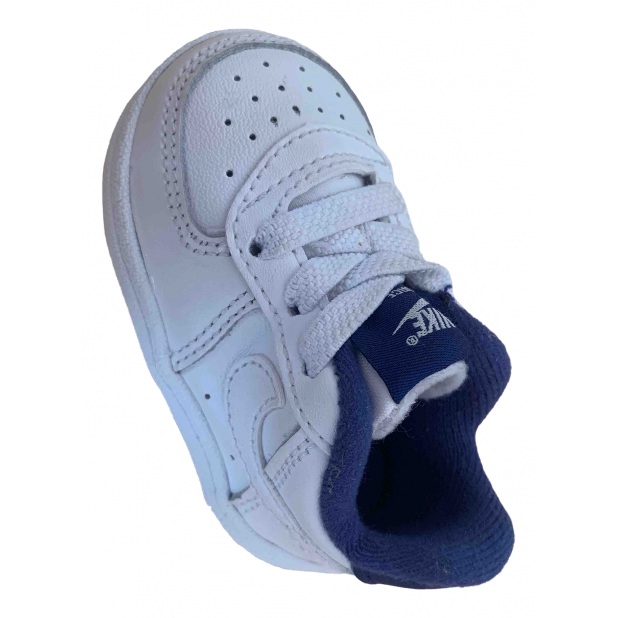 Nike Air Force 1 White Leather Trainers for Kids 17 EU