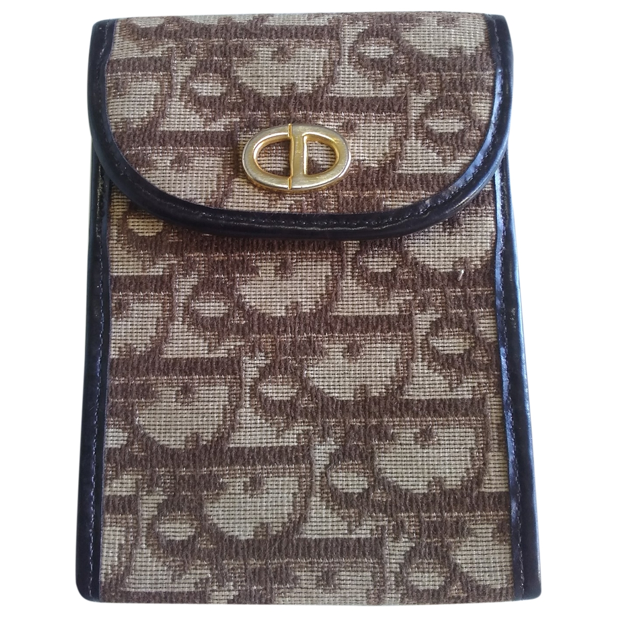 Dior \N Brown Cloth Purses, wallet & cases for Women \N