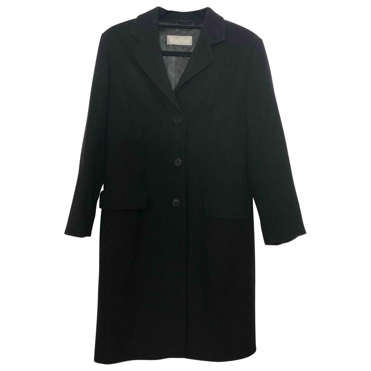 Max Mara \N Black Wool coat for Women 42 IT