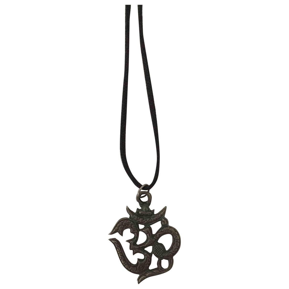 Non Signé / Unsigned Motifs Religieux Silver Metal pendant for Women \N