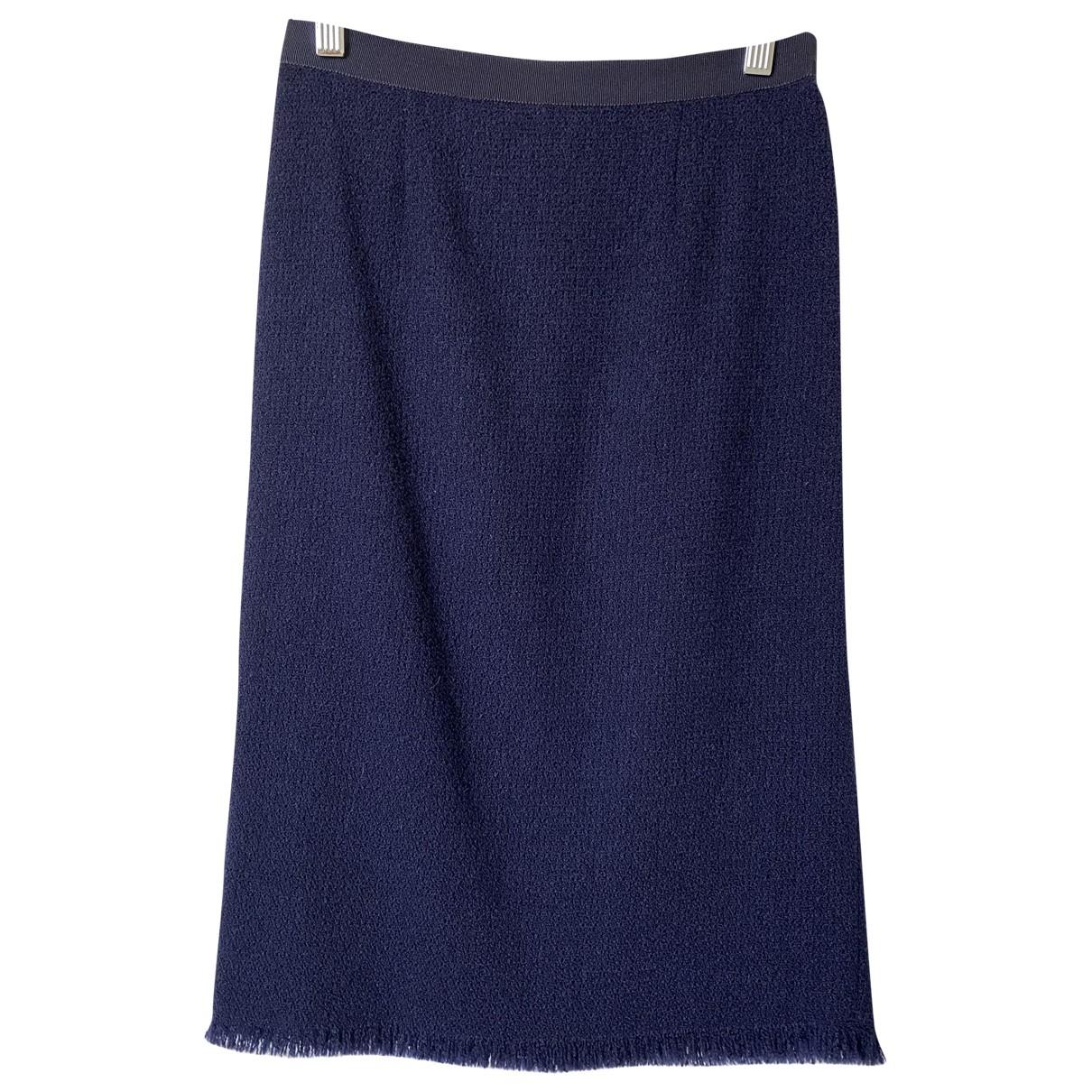 Moschino - Jupe   pour femme en tweed - marine