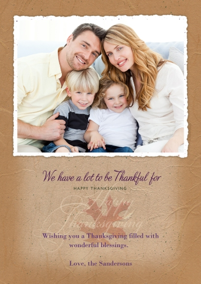 Thanksgiving Photo Cards 5x7 Cards, Premium Cardstock 120lb with Elegant Corners, Card & Stationery -Happy Thanksgiving