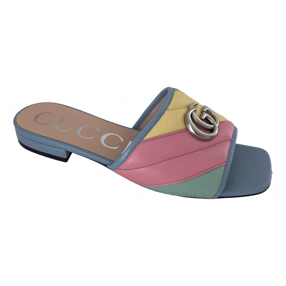 Gucci - Sandales Double G pour femme en cuir - multicolore