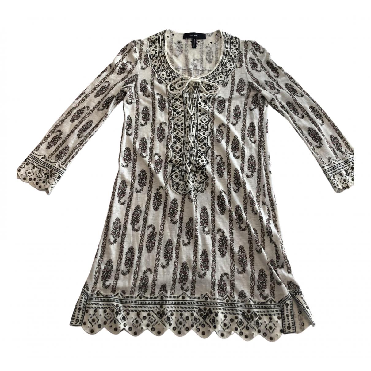 Isabel Marant \N Kleid in  Weiss Leinen