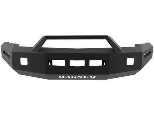 Silverado Front Bumper Non Winch 07-13 Chevy Silverado 1500 LD Single 3.5inch Square Light Holes Magnum RT Series ICI Innovative Creations FBM31CHN-RT